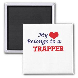 Aimant Mon coeur appartient à un trappeur