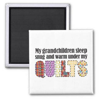 Aimant Mon sommeil de petits-enfants douillettement sous