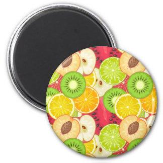 Aimant Motif coloré de fruit d'amusement