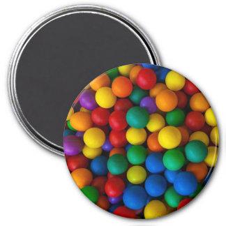 Aimant Motif de boules de jeu d'arc-en-ciel