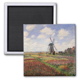 Aimant Moulin à vent de Rijnsburg de champs de tulipe de