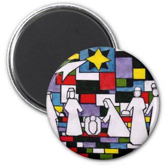 Aimant Nativité de Mondrian - de Stijl - Neoplasticism