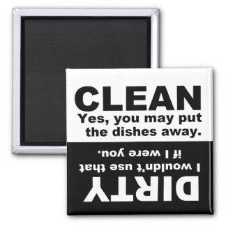 Aimant Nettoyez l'aimant sale de lave-vaisselle