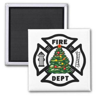Aimant Noël de sapeur-pompier