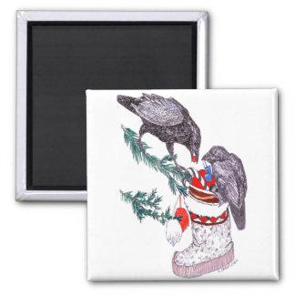 Aimant Noël lunatique Raven remplissant bas