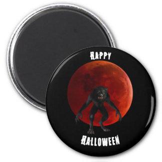 Aimant Noir rouge sang de Halloween de lune de loup-garou