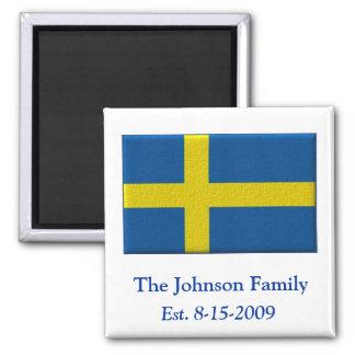 Aimant Nom de famille fait sur commande de drapeau