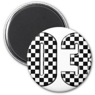 Aimant nombre checkered de l'emballage 03 automatique
