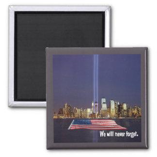 Aimant Nous n'oublierons jamais l'hommage 9-11