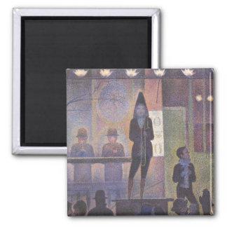 Aimant Numéro de cirque de cirque par Georges Seurat, art