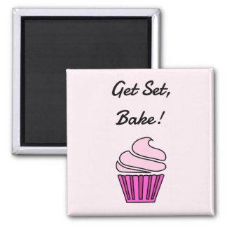 Aimant Obtenez l'ensemble font le petit gâteau rose