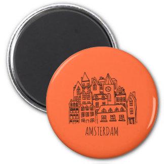 Aimant Orange néerlandaise de souvenir de ville