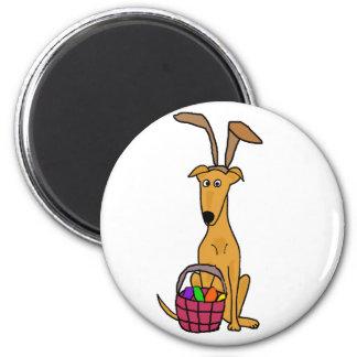 Aimant Oreilles de lapin de port de lévrier drôle mignon