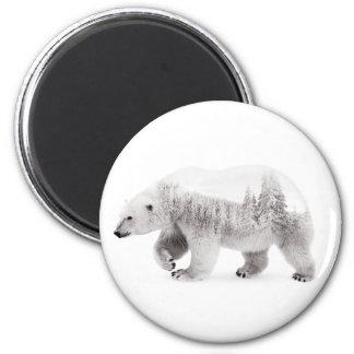 Aimant Ours arctique noir et blanc