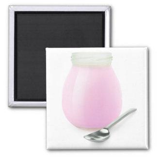 Aimant Ouvrez le pot de yaourt
