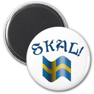 Aimant Pain grillé suédois de drapeau de Skal de Suède