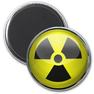 Aimant Panneau d'avertissement radioactif de symbole de