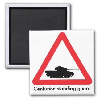 Aimant Panneau routier de croisement de char Centurion.