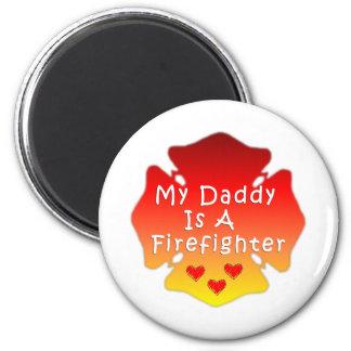 Aimant Papa de sapeur-pompier