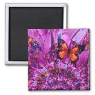 Aimant Papillon fou de fleur