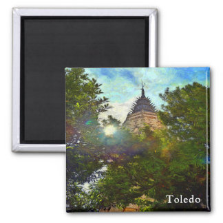 Aimant Paysage avec la tour de la cathédrale de St Mary