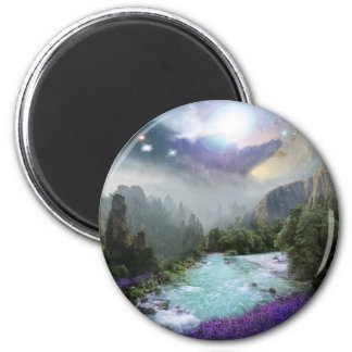 Aimant Paysage magique de nature avec de l'eau de