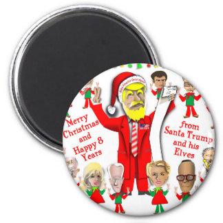 Aimant Père Noël et elfes