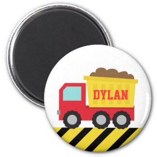 Aimant personnalisé rouge de camion à benne