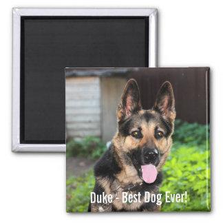 Aimant Photo personnalisée de chien de berger allemand,