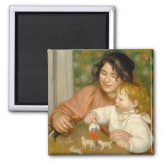 Aimant Pierre un enfant de Renoir | avec des jouets