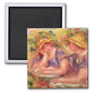 Aimant Pierre un Renoir | deux femmes dans des chemisiers