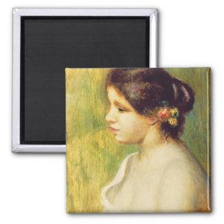 Aimant Pierre une jeune femme de Renoir | avec des fleurs