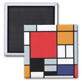 Aimant Piet Mondrian - composition avec le grand avion