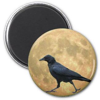 Aimant Pleine lune, corneille de marche