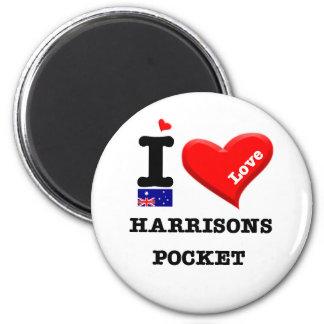 Aimant POCHE de HARRISONS - amour d'I