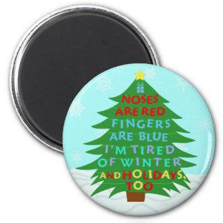 Aimant Poème fumiste drôle de Noël de Bah