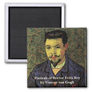 Aimant Portrait de Van Gogh de docteur Felix Rey, art