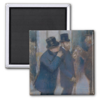 Aimant Portraits à la bourse des valeurs par Edgar Degas