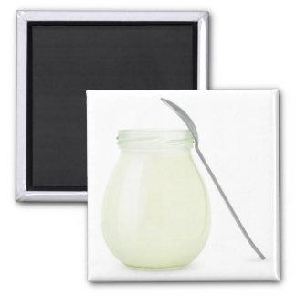 Aimant Pot de yaourt naturel