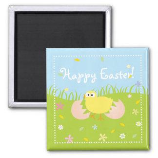 Aimant Poussin mignon heureux de bébé de Pâques