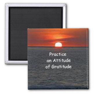 Aimant Pratiquez une attitude de gratitude