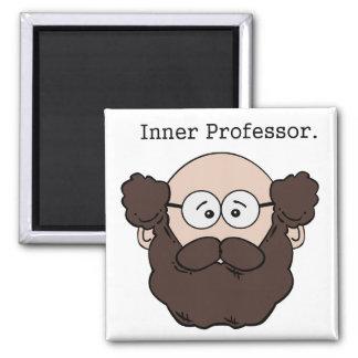 Aimant Professeur intérieur Bearded Teacher Cartoon