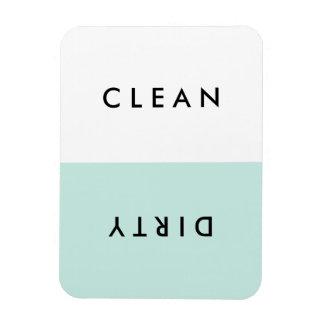 Aimant propre ou sale de lave-vaisselle bleu magnet rectangulaire avec photo