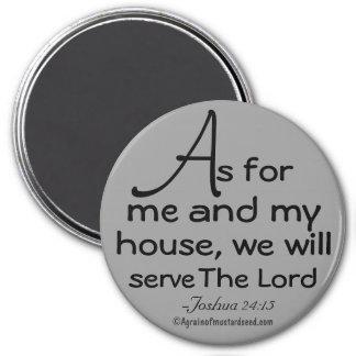Aimant Quant à moi et à ma citation de bible de maison