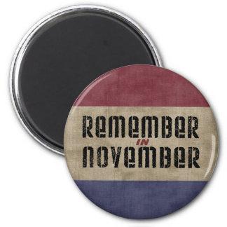 Aimant Rappelez-vous en novembre la campagne électorale
