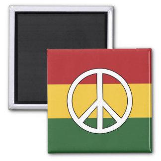 Aimant Rasta colore le symbole de paix