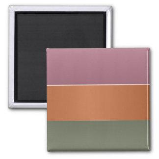Aimant Rayure de couleur de finition trois en métal -