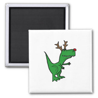 Aimant Renne drôle de Noël de dinosaure de T-Rex