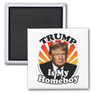 Aimant Rétro Donald Trump est mon Homeboy pour le