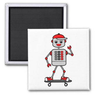 Aimant Robot de garçon de bande dessinée sur la planche à